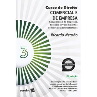 Livro Curso de Direito Comercial e de Empresa - Vol. 3 - Negrão - Saraiva