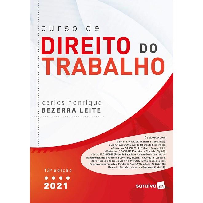 Livro Curso de Direito do Trabalho - Leite - Saraiva