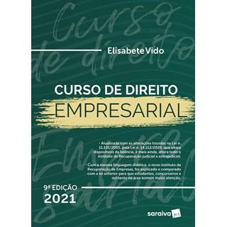 Livro Curso de Direito Empresarial 9º Edição - Vido - Saraiva
