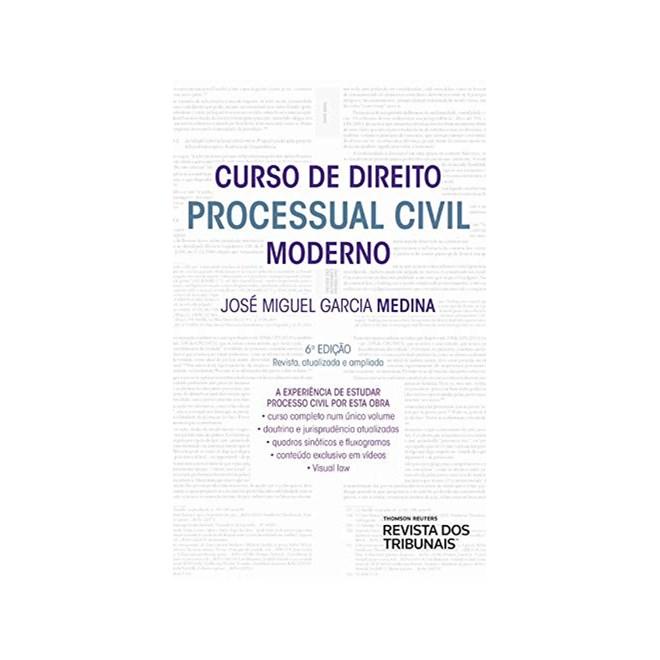 Livro Curso de Direito Processual Civil Moderno - Medina - Revista dos Tribunais