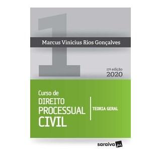 Livro - Curso de Direito Processual Civil Vol 1 - 17ª edição de 2020 - Gonçalves 17º edição