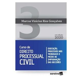 Livro - Curso de Direito Processual Civil Vol 3 - 13ª edição de 2020 - Gonçalves 13º edição
