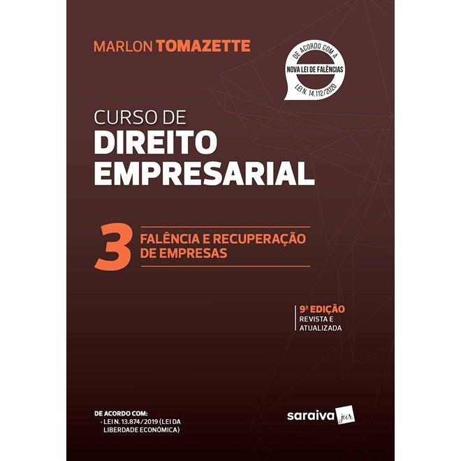 Livro - Curso de Direitos empresarial - Vol. 3 - 8ª edição de 2020 - Tomazette 8º edição