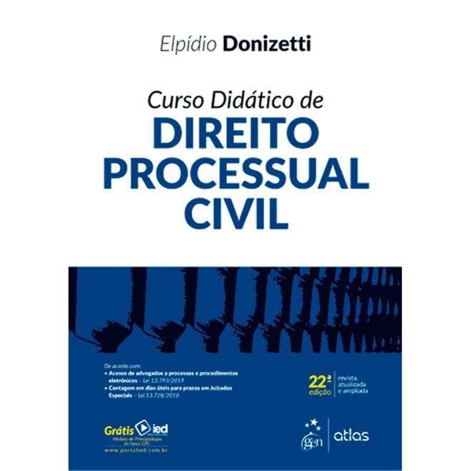 Livro - Curso Didático Direito Processual Civil - Donizetti