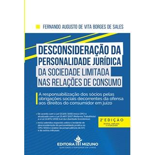 Livro Desconsideração da Personalidade Jurídica - Sales - Jh Mizuno