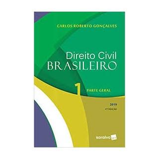 Livro  - Direito Civil Brasileiro Volume 1 - Parte Geral - 17ª Edição - Gonçalves