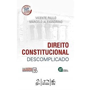 Livro Direito Constitucional Descomplicado - Alexandrino - Método
