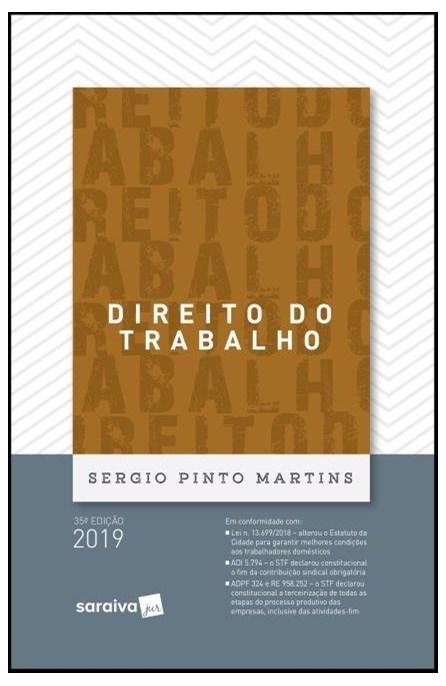 Livro - Direito Do Trabalho - Martins