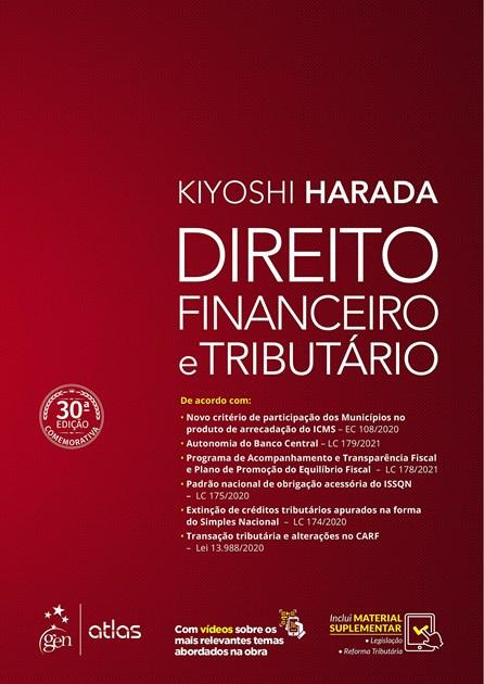 Livro - Direito Financeiro e Tributário - Harada