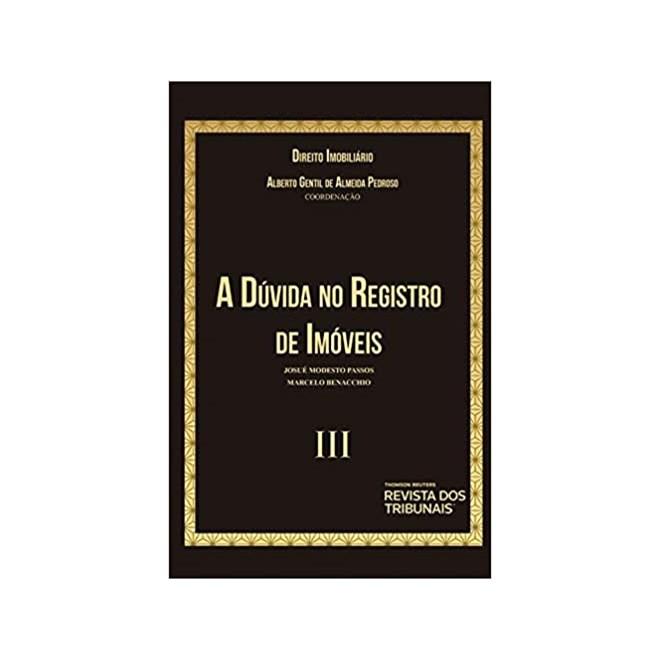 Livro - Direito Imobiliário lll - Pedroso - Revista dos Tribunais
