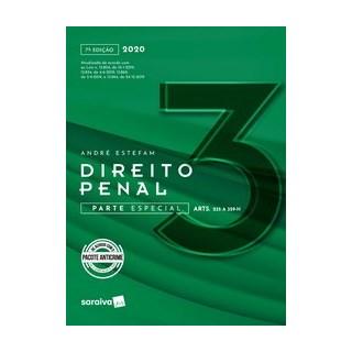 Livro - Direito Penal Parte especial - Vol. 3 - 7ª edição de 2020 - Estefan 7º edição