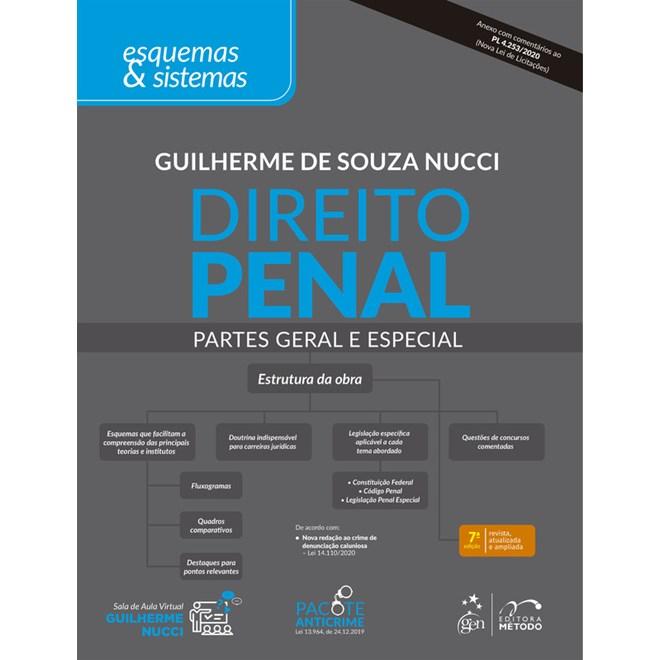 Livro - Direito Penal - Parte Geral e Especial - Esquemas & Sistemas - Nucci