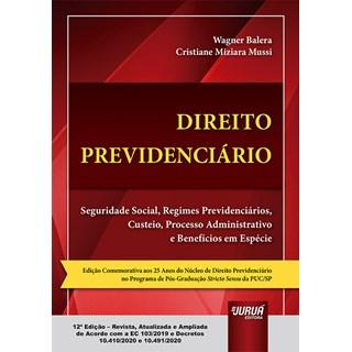 Livro Direito Previdenciário - Balera - Juruá