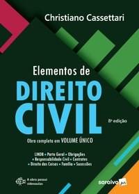 Livro Elementos de Direito Civil 8ª Ed. 2020 Cassetari 8º edicao