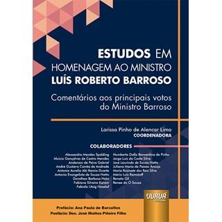 Livro - Estudos em Homenagem ao Ministro Luís Roberto Barroso - Lima - Juruá
