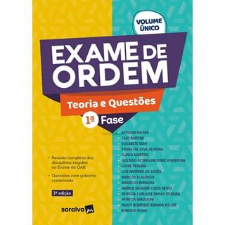 Livro - Exame De Ordem Teoria E Questões - 1 Fase - 1ª Edição 2020 - Rachid 1º edição