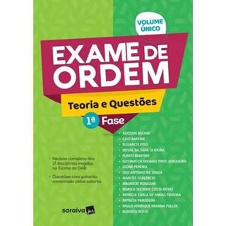 Livro - Exame De Ordem - Teoria E Questões - 1 Fase - Saraiva