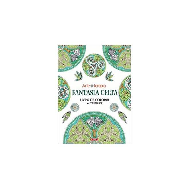 Livro - Fantasia Celta - Livro de Colorir Antiestresse. Volume 2 - Alaúde