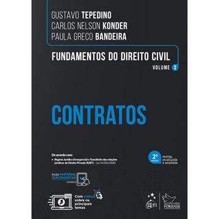 Livro Fundamentos do Direito Civil  vol 3 : Contratos - Tepedino - Forense