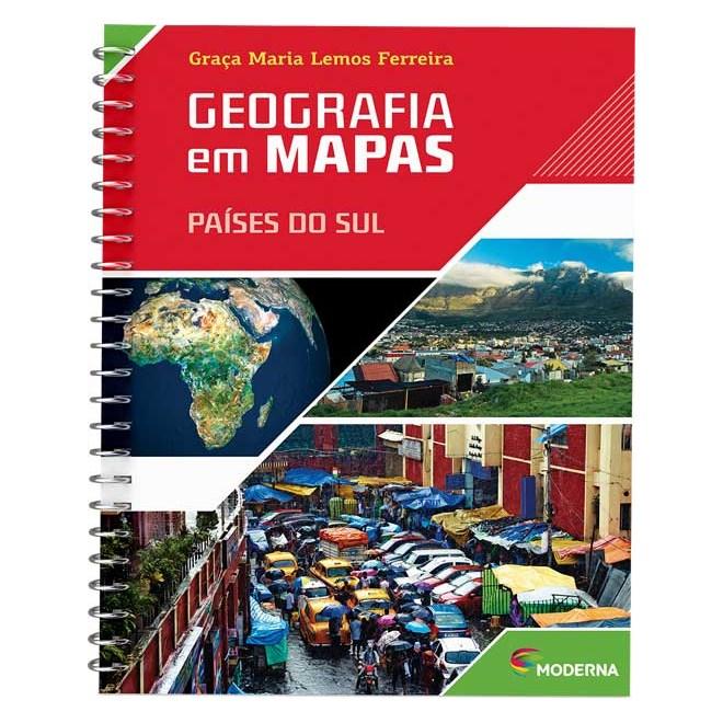 Livro - Geografia em Mapas - Países do Sul - Ferreira - Moderna