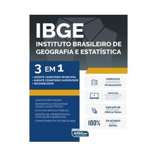 Livro - IBGE - 3 em 1 Edital 2020 - Equipe Alfacon 1º edição