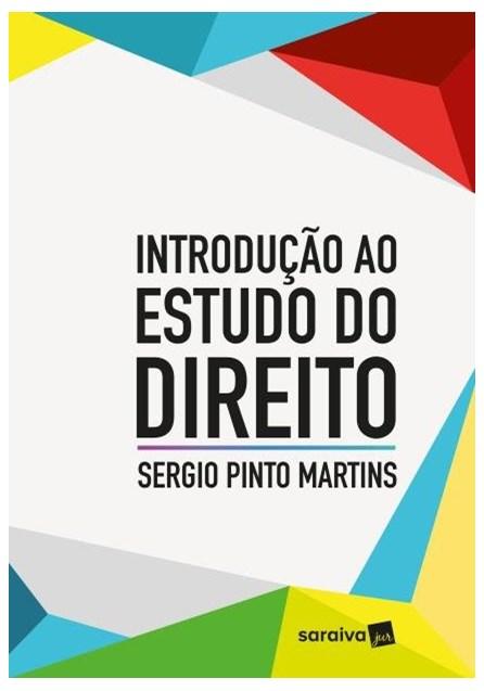 Livro - Introdução Ao Estudo Do Direito - Martins