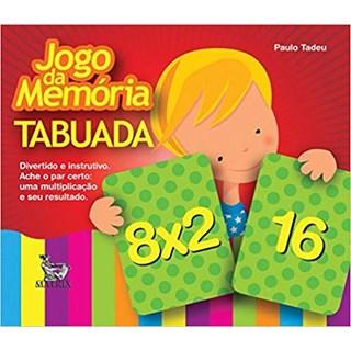 Livro- Jogo da Memória - Tabuada -Tadeu - Baralho
