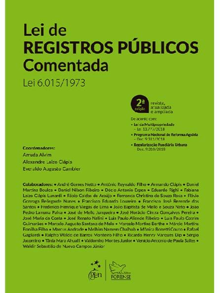 Livro - Lei de Registros Públicos Comentada - Alvim