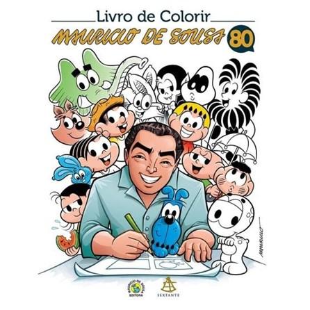 Livro - Livro de Colorir - Mauricio de Sousa 80 Anos