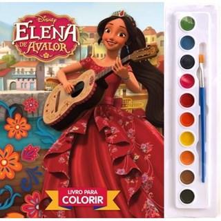 Livro - Livro para Colorir - Elena de Avalor - Aquarela - Disney