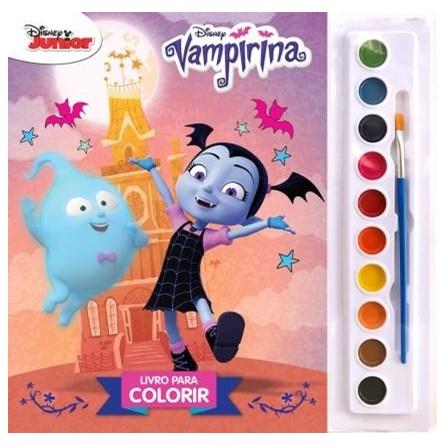 Livro - Livro para Colorir - Vampirina - Aquarela - Disney