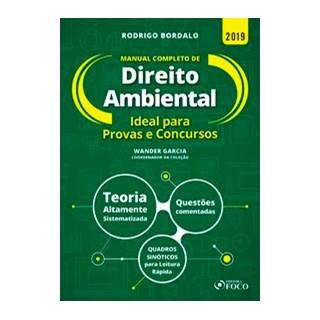 Livro - Manual completo de Direito Ambiental - 1ª edição - 2019 - Bordalo 1º edição