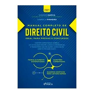 Livro - MANUAL COMPLETO DE DIREITO CIVIL - 3ª ED - 2021 - Garcia 3º edição
