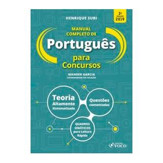 Livro - Manual completo de português para concursos - 3ª edição - 2019 - Subi 3º edição