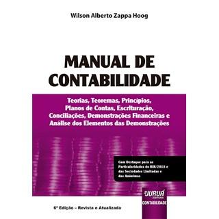Livro Manual De Contabilidade - Hoog - Juruá
