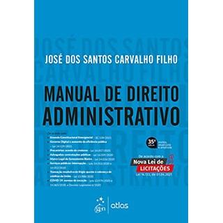 Livro - Manual de Direito Administrativo - CARVALHO FILHO 34º edição