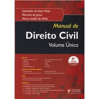 Livro - Manual De Direito Civil Volume único - Assis Neto
