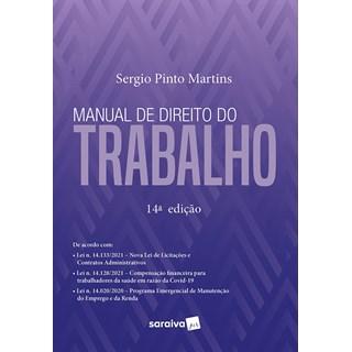 Livro Manual de Direito do Trabalho 14ª Edição - Martins - Saraiva