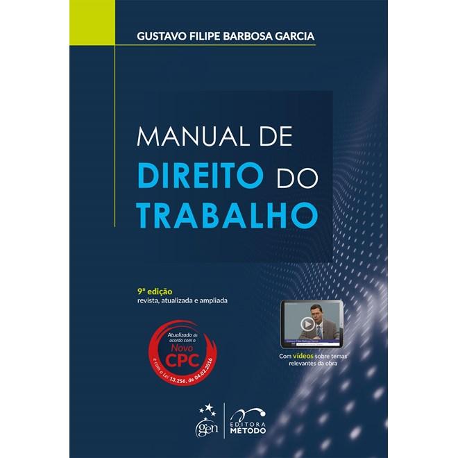 Livro - Manual de Direito do Trabalho - Garcia