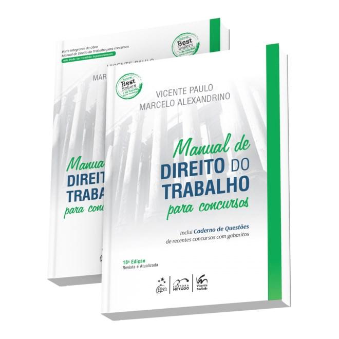 Livro - Manual de Direito do Trabalho para Concursos com Caderno de Questões - Paulo