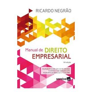 Livro - Manual de Direito Empresarial - 10ª Edição de 2020 - Negrão 10º edição