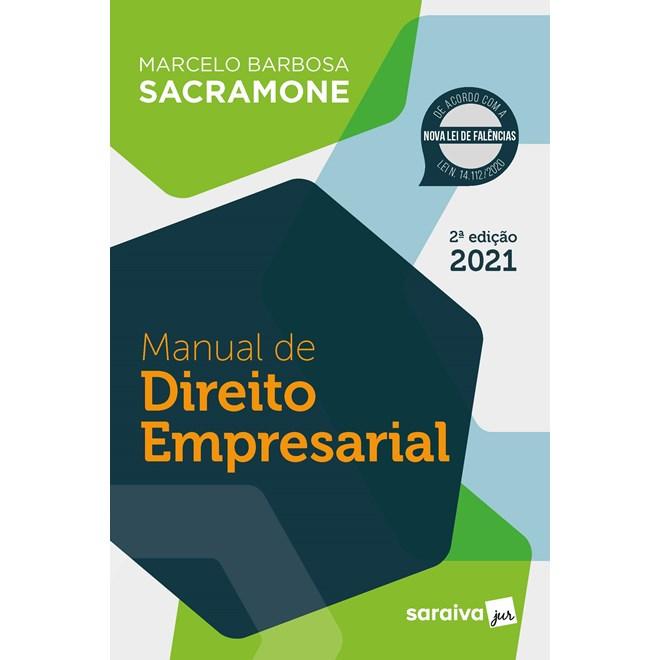 Livro Manual de Direito Empresarial - Sacramone - Saraiva