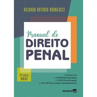 Livro Manual de Direito Penal 15ª Edição - Andreucci - Saraiva - Pré-Venda