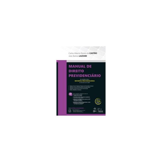 Livro - Manual de Direito Previdenciário - Castro 23º edição