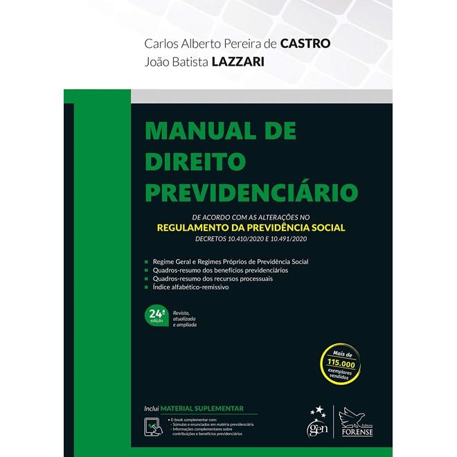 Livro - Manual de Direito Previdenciário - Lazzari - Forense