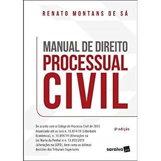 Livro Manual de Direito Processual Civil 6ª Edição - Saraiva