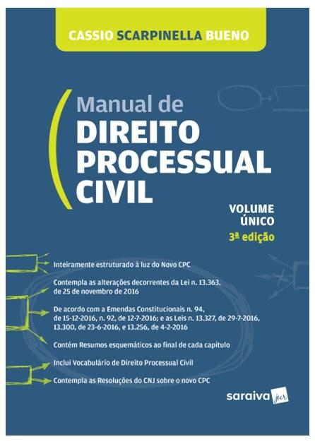 Livro - Manual de Direito Processual Civil - Bueno