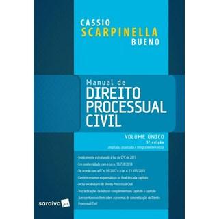 Livro - Manual De Direito Processual Civil - Volume Único - 20ª Ed. 2019 - Bueno