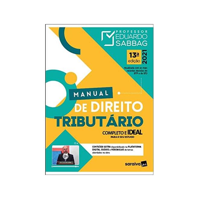 Livro - Manual de Direito Tributário - 12ª Ed. 2020 - Sabbag 12º edição