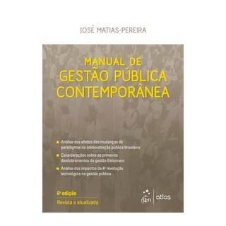 Livro - Manual de Gestão Pública Contemporânea - MATIAS-PEREIRA 6º edição
